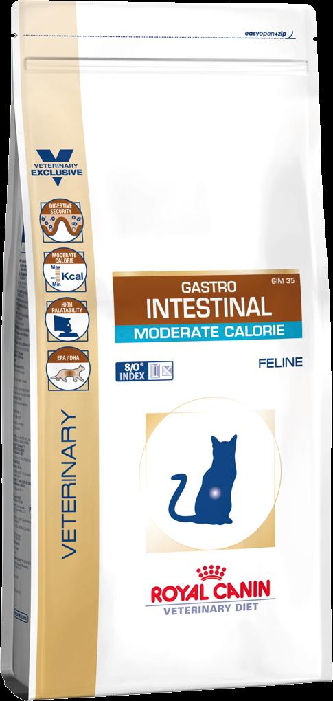 Корм для кошек с нарушением пищеварения Royal Canin GASTRO INTESTINAL MODERATE CALORIE FELINE 0,4 кг