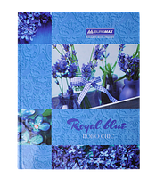 "Книга обліку ""BOHO CHIC"" 96 арк/кліт.оф.(тв. лам. обкл), А4, синій"