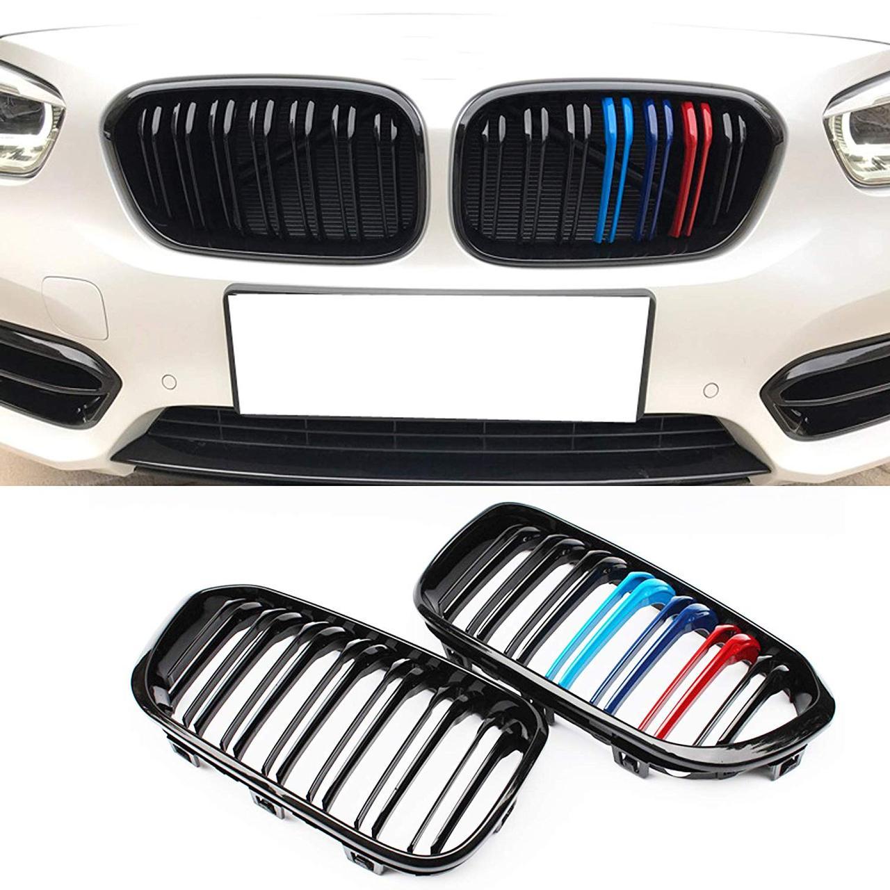 Решетки радиатора ноздри BMW F20 F21 (15-18) в стиле M1 (глянц + колор)