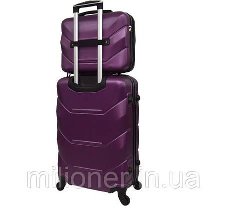 Комплект чемодан + кейс Bonro 2019 (средний) сиреневый, фото 2
