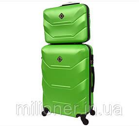 Комплект чемодан + кейс Bonro 2019 (средний) салатовый