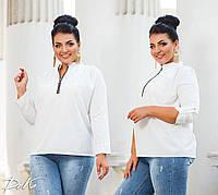 Женская стильная блузка №41325 (р.42-56) белый, фото 1
