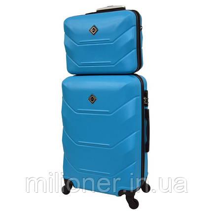 Комплект валіза + кейс Bonro 2019 (середній) блакитний, фото 2