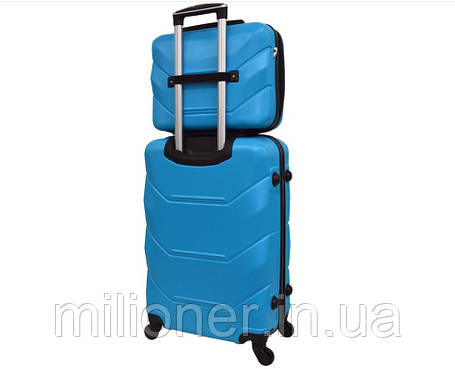 Комплект чемодан + кейс Bonro 2019 (средний) голубой, фото 2