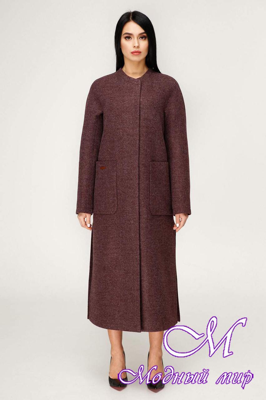 Длинное женское демисезонное пальто (р. 44-54) арт. 1192 Тон 5