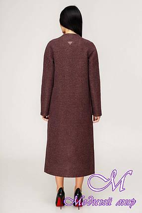 Длинное женское демисезонное пальто (р. 44-54) арт. 1192 Тон 5, фото 2