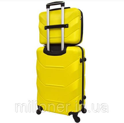 Комплект чемодан + кейс Bonro 2019 (средний) желтый, фото 2