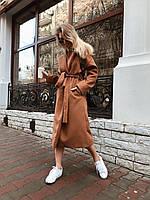 Пальто кашемировое коричневое, фото 1