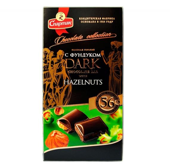 Шоколад Спартак горький 56% с фундуком 90г
