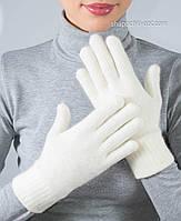 Белые шерстяные перчатки PR-3