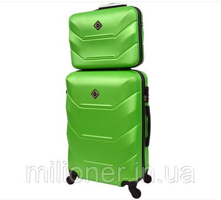 Комплект чемодан + кейс Bonro 2019 (небольшой) салатовый, фото 2
