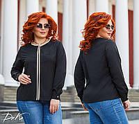 Женская стильная блузка №41326 (р.42-56) черный, фото 1