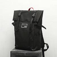 Рюкзак городской стильный для мужчин и женщин (черный)