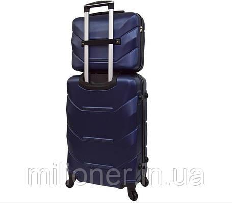 Комплект чемодан + кейс Bonro 2019 (небольшой) т.синий, фото 2