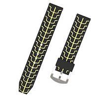 Силиконовый ремешок Primo Splint для часов Huawei Watch GT / GT Active 46mm - Black&Yellow, фото 1