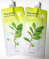 Маска для лица с зеленым чаем Missha Pure Source Pocket Pack Green Tea