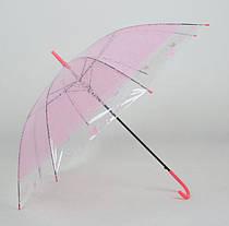 Большой силиконовый прозрачный зонт с принтом кружева, фото 3