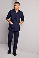 Медицинский костюм для врача мужской темно-синий Atteks - 03310