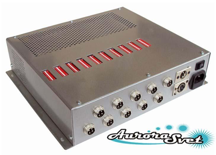 БУС-3-10-600 блок управления светодиодными светильниками, кол-во LED драйверов - 10, мощность 600W.