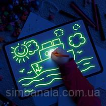 Планшет для малювання світлом A4(30х21см), двосторонній в пластиковій рамці, Україна