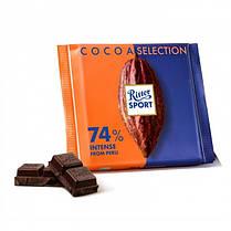 Шоколад Ritter Sport темный 74% какао из Перу 100г. Германия