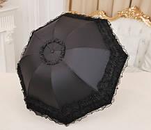 Оригинальный складной зонт с кружевами, фото 3