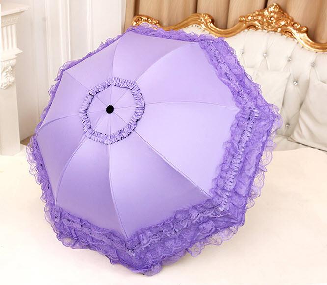 Оригинальный складной зонт с кружевами