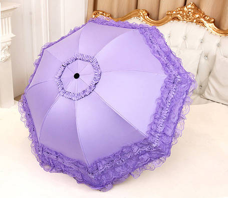 Оригинальный складной зонт с кружевами, фото 2