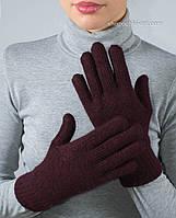 Лаконичные женские перчатки PR-3 цвет темно-каштановый