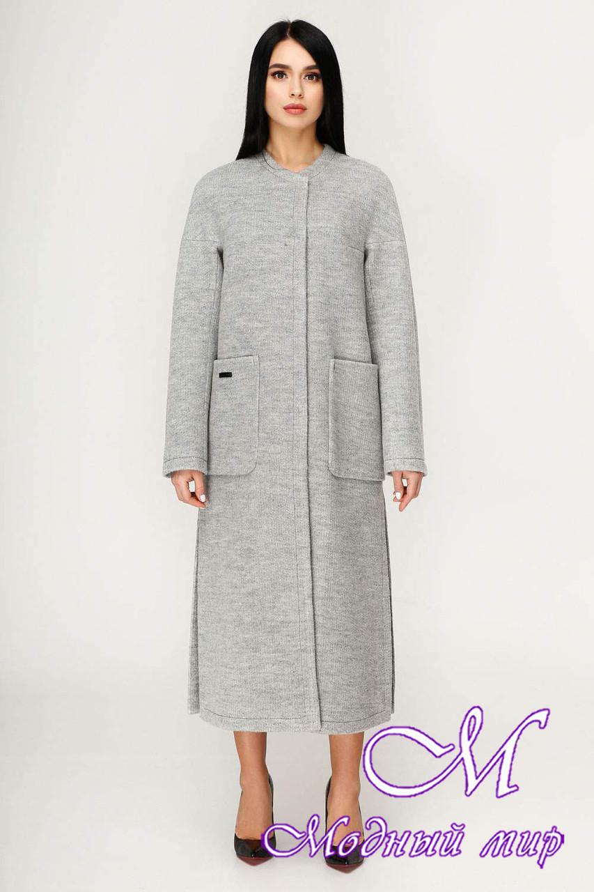 Демисезонное женское длинное пальто (р. 44-54) арт. 1192 Тон 59