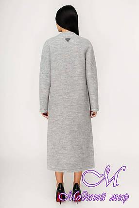 Демисезонное женское длинное пальто (р. 44-54) арт. 1192 Тон 59, фото 2
