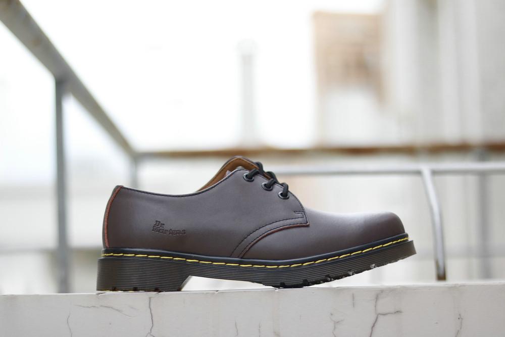Мужские туфли Dr.Martens 1461 Brown Low (реплика)