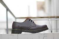 Мужские туфли Dr.Martens 1461 Brown Low (реплика), фото 1