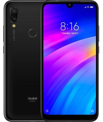 "Смартфон Xiaomi Redmi 7 Black 3/64Gb Global, 12+2/8Мп, Snapdragon 632, 2sim, 6.26"" IPS, 4000mAh, 8 ядер"