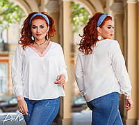 Женская стильная блузка №41330 (р.42-56) белый, фото 1