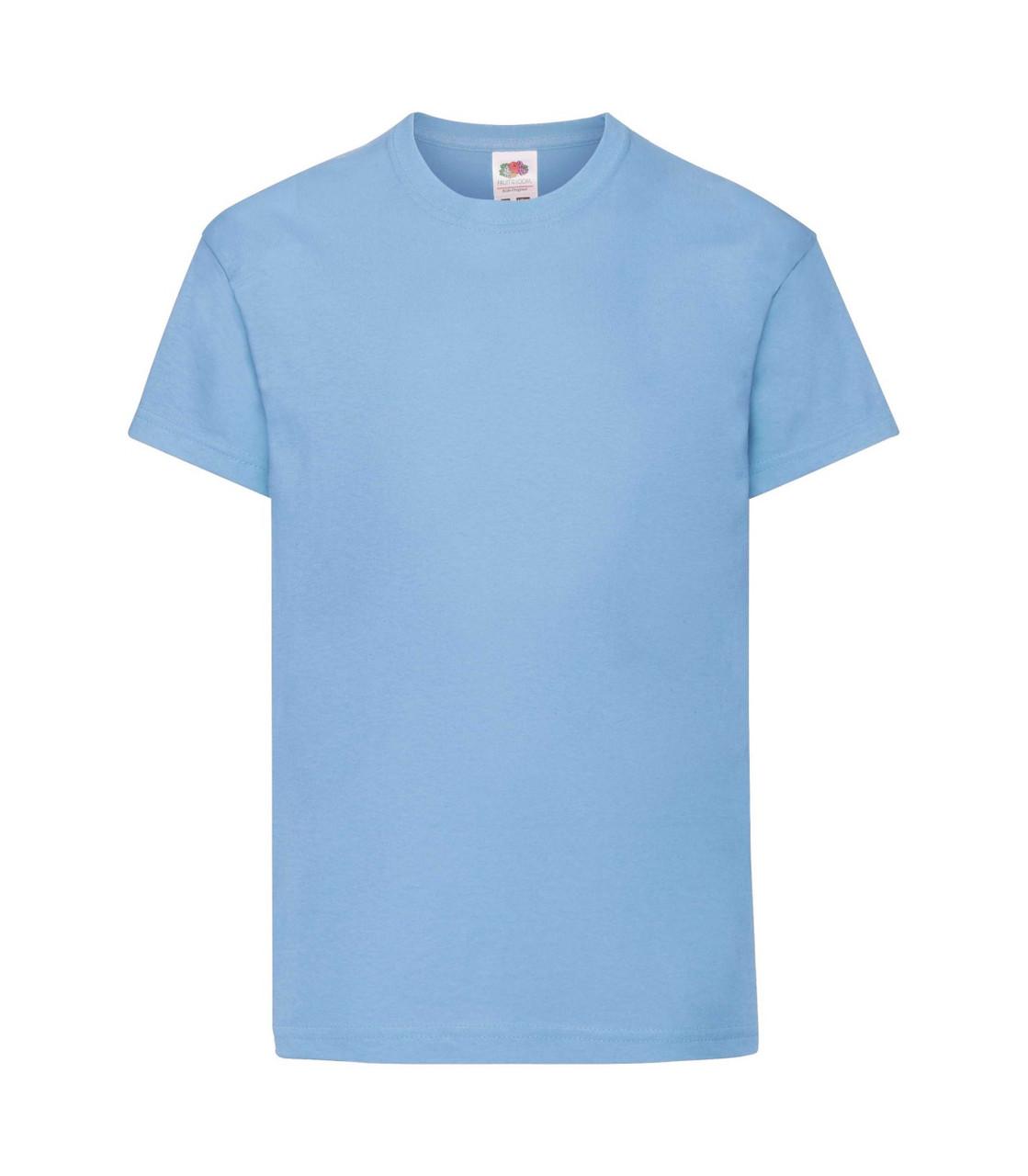 Футболка для мальчиков хлопок голубая 019-YT