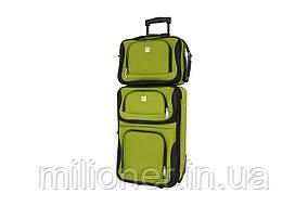 Комплект чемодан + сумка Bonro Best небольшой зеленый