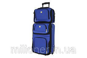 Комплект чемодан + сумка  Bonro Best небольшой синий
