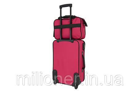 Комплект чемодан + сумка  Bonro Best средний вишневый, фото 2