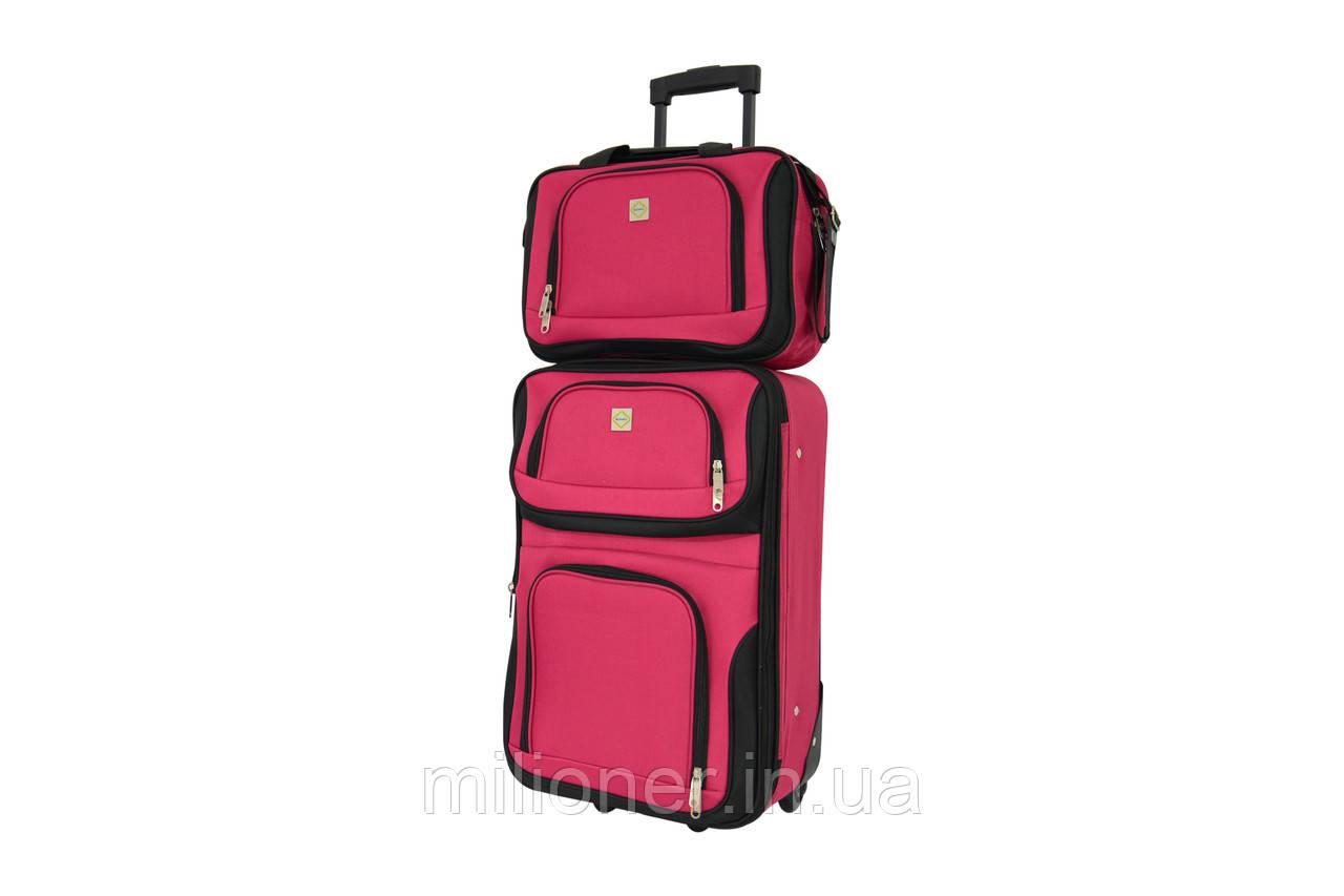 Комплект чемодан + сумка  Bonro Best средний вишневый