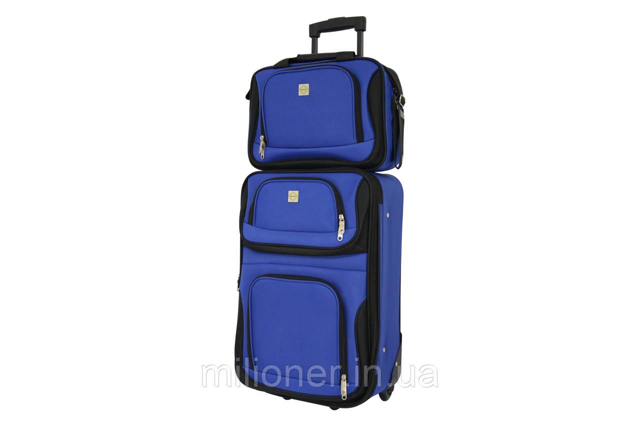 Комплект чемодан + сумка  Bonro Best средний синий