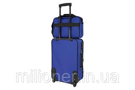 Комплект чемодан + сумка  Bonro Best средний синий, фото 2