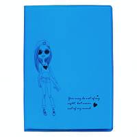 Записная книжка, блокнот Fashion girl голубая