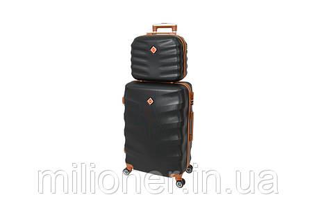 Комплект чемодан + кейс Bonro Next (небольшой) черный, фото 2