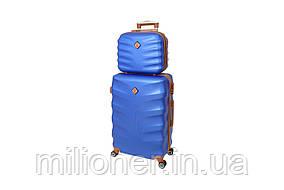 Комплект чемодан + кейс Bonro Next (небольшой) синий