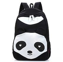 Стильний великий тканинний рюкзак Панда, фото 3