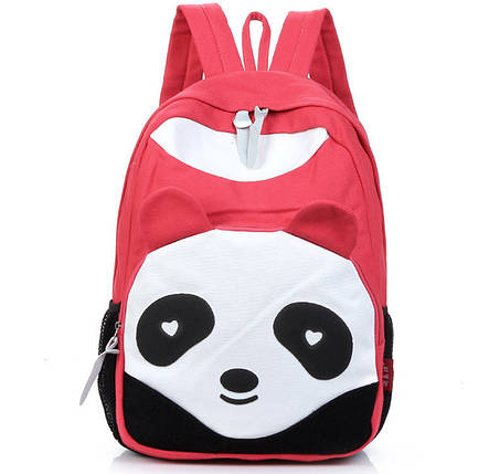 Стильний великий тканинний рюкзак Панда, фото 2