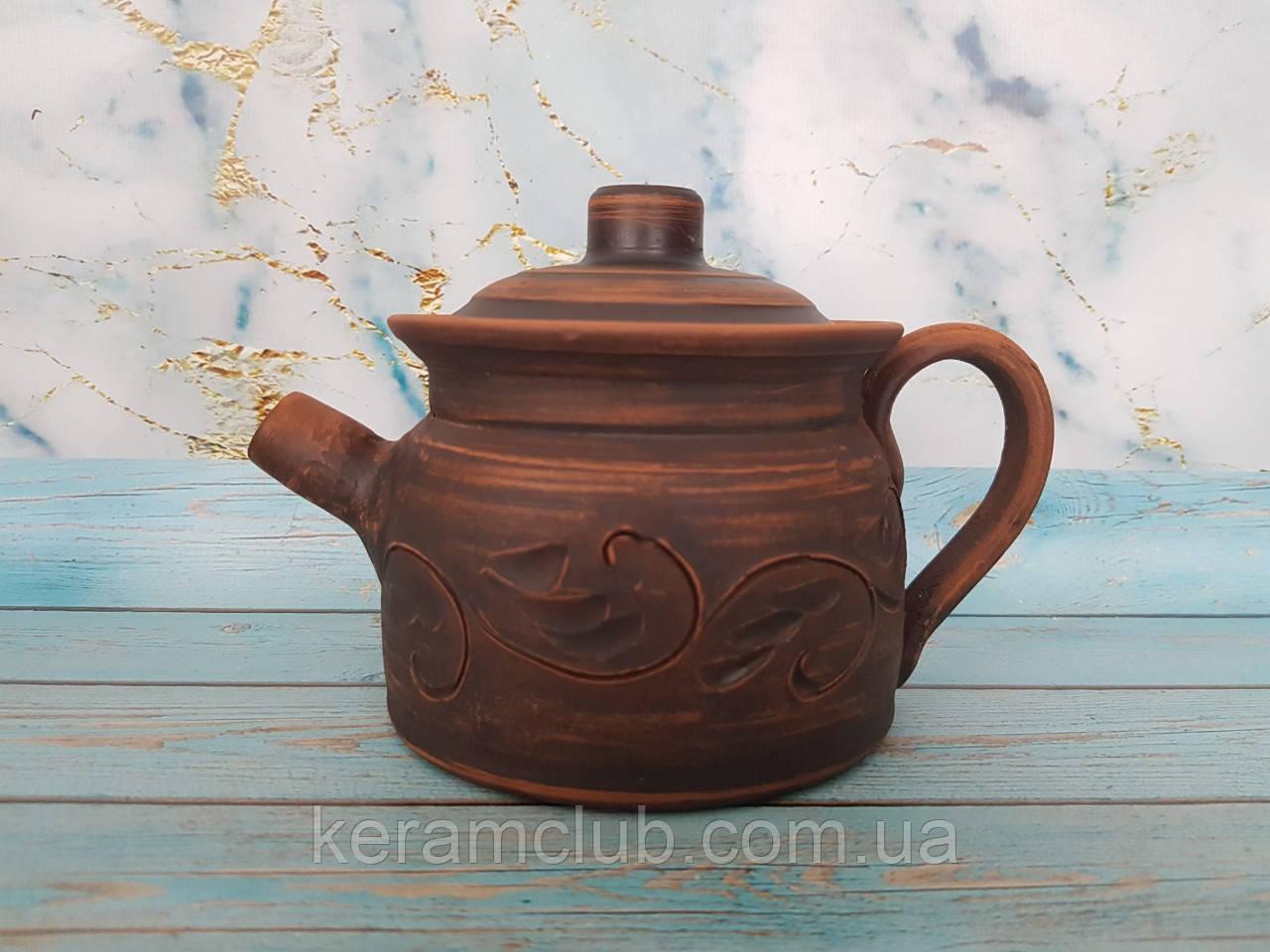 Глиняный заварочный чайник 500 мл