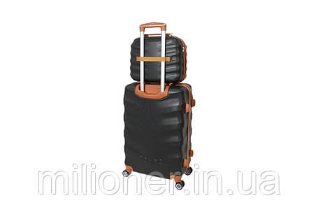 Комплект чемодан + кейс Bonro Next (средний) черный, фото 2