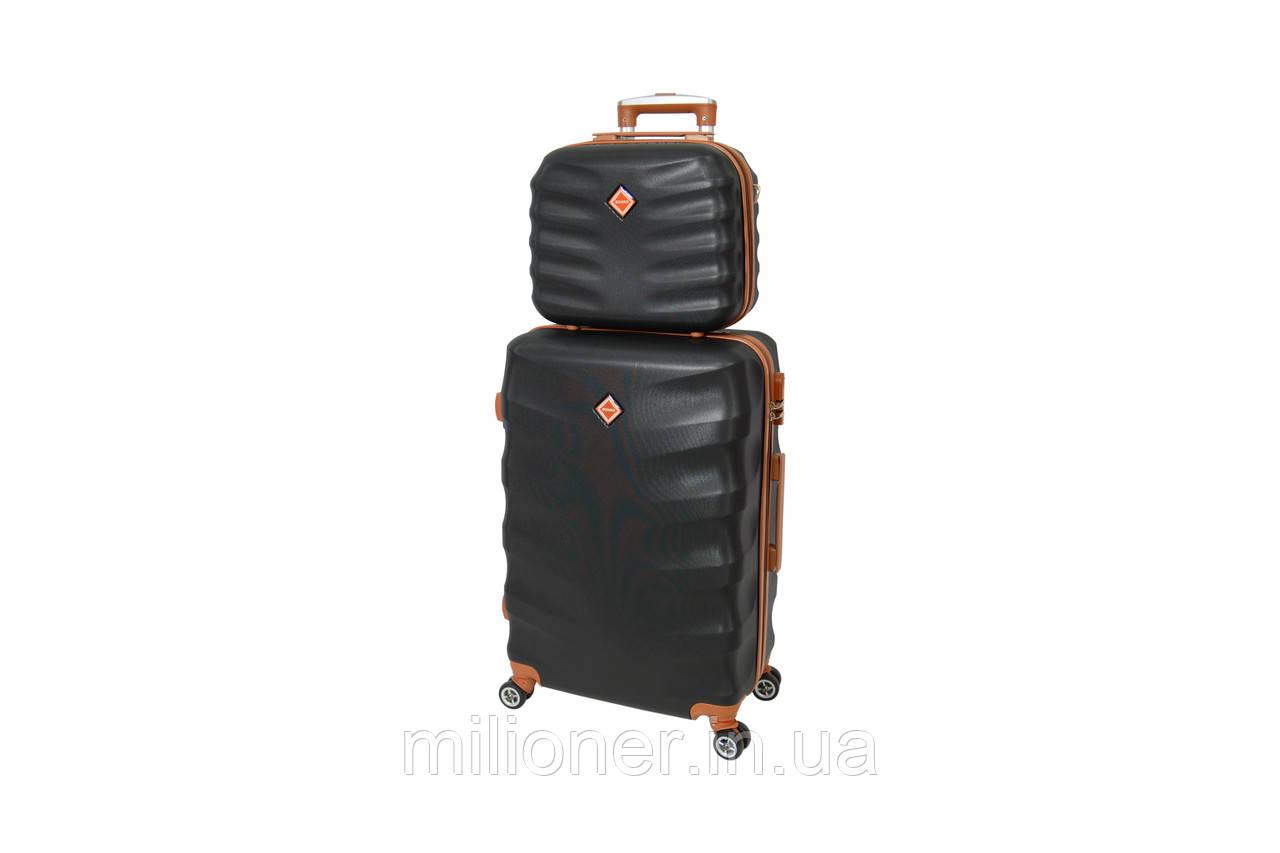 Комплект чемодан + кейс Bonro Next (средний) черный